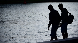 Angler am Kai